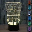 grossiste Lampes: Lampe Multicolore  Bob l?Eponge Effet 3D