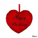 wholesale Cushions & Blankets: Pillow Red Heart Happy Birthday Sizes: Cushion