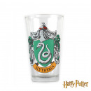 Large glass with Harry Potter Slytherin Crest