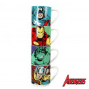 groothandel Koppen & bekers: Stapelen cups  Marvel Super Heroes - Set van 4
