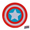 Großhandel Partyartikel: Plateau Metallic Captain America Marvel Logo