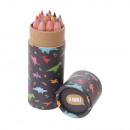 wholesale School Supplies: Mini Pot Dinosaurs Color Pencils