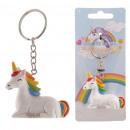 Großhandel Geschenkartikel & Papeterie: Schlüsselanhänger  Einhorn-Regenbogen Sky 3D