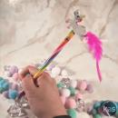 grossiste Maquillage: Crayon Licorne  Arc-en-Ciel avec Figurine