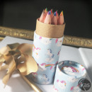 wholesale School Supplies: Mini Pot Color pencils Unicorns