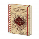 Harry Potter Spiral Notebook Marauder Card