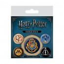 Großhandel Sonstige: Packung mit 5  Harry Potter Hogwarts Buttons