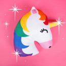 Cojín del arco iris del cielo del unicornio