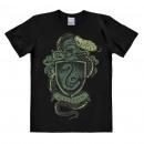 Großhandel Kinder- und Babybekleidung: Harry Potter T-Shirt Schwarzes Slytherin-Wappen