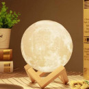 Multicolored Usb Moon Lamp on Wooden Stand Tai