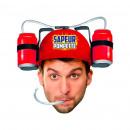 Großhandel Kopfbedeckung: Humorvoller Bierhelm Pompeur Pompette