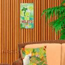 grossiste Mercerie et couture: Plaque Métallique Mojito Cocktail