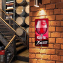 Metallic Plate Glass Red Wine with Lips