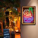 Metallic Plate Beer Pub Effect Neon