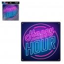 mayorista Casa y cocina: Happy Hour Metallic Plate Neon Effect