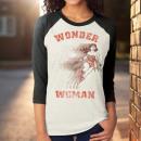 nagyker Gyerek- és babaruha: T-Shirt Wonder Woman ujjak 3/4 Női méretek: Ts