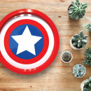wholesale Party Items: Plateau Metallic Captain America Marvel Logo
