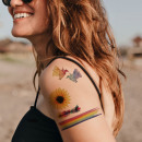 wholesale Piercing / Tattoo: 5 Leaves Temporary Tattoos Body