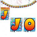 Banner del feliz cumpleaños Cartas 4 Metros