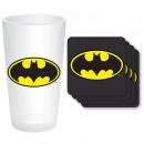 Maxi Glass Batman and 4 Coasters