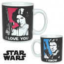 Mug Star Wars Han Solo and Leia