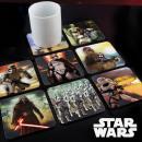 Lot 8 Coasters  Animated Star Wars Ep 7