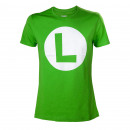 grossiste Electronique de divertissement: T-Shirt Luigi  Nintendo Logo L Déclinaisons:T-Shirt