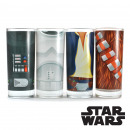 wholesale Drinking Glasses: Set of Four  Glasses Star Wars - Characters Torsos