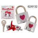 Love locks with a heart