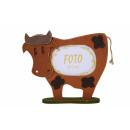 Ręcznie wykonana ramka krowa brąz