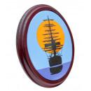 Vitorlás hajó - zománcozott jelzőtábla, fából ...