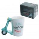 A ceramic scooter mug