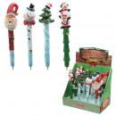 Großhandel Stifte & Schreibgeräte: Kugelschreiber mit Weihnachtszeichen