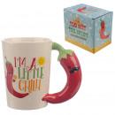 Großhandel Tassen & Becher: Eine keramische Tasse Chilli