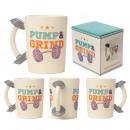 Großhandel Tassen & Becher: Keramiktasse mit Hanteln und Gewichten
