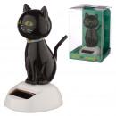 Figurka solarna czarny kot