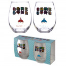 wholesale Drinking Glasses: Game over glasses - set of 2 pieces