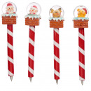 wholesale Snow Globes: Christmas ball pen with snowball