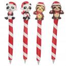 Großhandel Stifte & Schreibgeräte:Weihnachtskugelschre iber - Pandabär oder Faultier