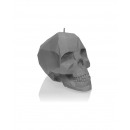 wholesale Candles & Candleholder: Candle skull - gray metallic