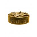 Candle pentagram XL- gold metallic