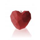 groothandel Kaarsen & standaards:Kaars hart hoekig - rood