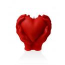grossiste Maison et habitat: coeur bougie dans  ses mains - perle rouge