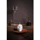 grossiste Cadeaux et papeterie: Crâne Bougie XXL - blanc perle