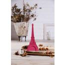 Candle XXL Eiffel Tower - dark pink pearl