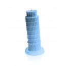 Candle Schiefen Turm XXL - blaue Perle
