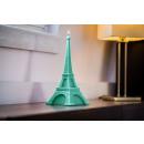 groothandel Home & Living: Kaars Eiffeltoren XXL - Turquoise