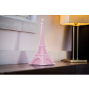 grossiste Bougies & bougeoirs: Candle Tour Eiffel XXL - rose vif