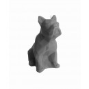 Candle bulldog - gray