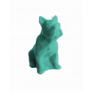 grossiste Bougies & bougeoirs: bulldog Candle - turquoise